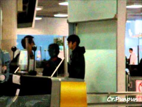 300112 Siwon N Prince Manager @ Suvarnaphumi Airport
