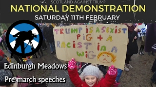 Scotland Against Trump : Edinburgh Meadows Highlights