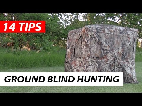 Hunting In A Ground Blind   14 Tips