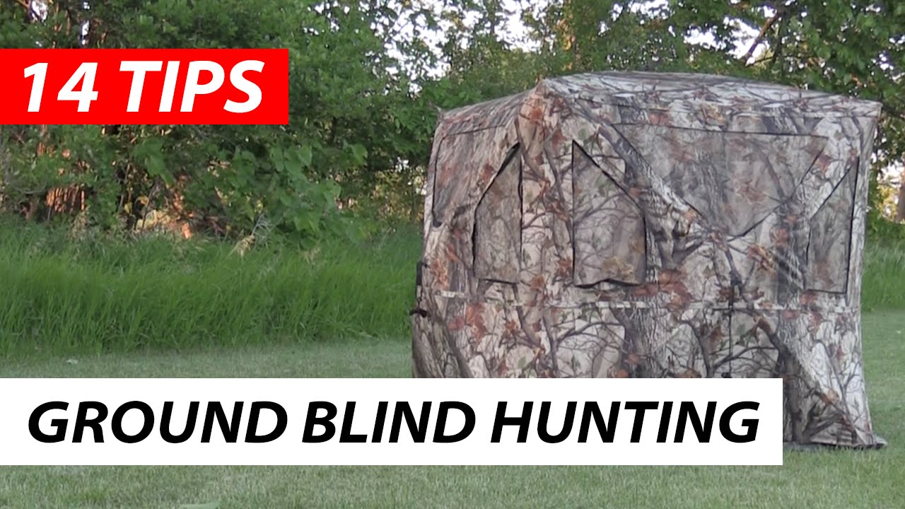 tips bow blind pros blinds bowhunting a deer hunting from for ground