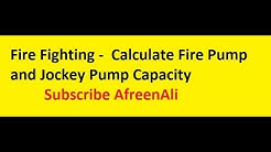 Fire Fighting - How to Calculate Fire Pump and Jockey Pump Capacity in Fire Fighting System