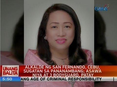 UB: Alkalde ng San Fernando, Cebu, sugatan sa pananambang; asawa niya at 3 bodyguard, patay