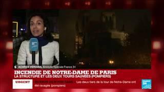 Incendie de Notre-Dame de Paris : 400 sapeurs-pompiers toujours mobilisés