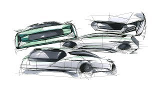 자동차 디자인 스케치 (How to sketch car)