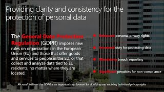 Learn how Microsoft Enterprise Mobility + Security supports your GDPR compliance journey - BRK2013