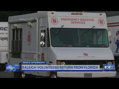 Salvation Army emergency canteen returns to Raleigh after helping in Florida after Irma