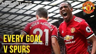 EVERY Premier League Goal v Spurs at Old Trafford! | Manchester United v Tottenham Hotspur