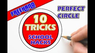 10 Tricks How to Draw a Perfect Circle Without Compass l School Hacks with Pen