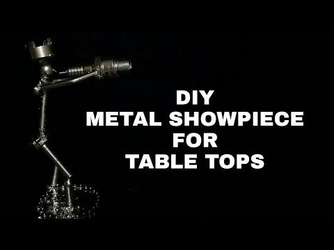 DIY METAL ART MADE BY WELDING   TABLE SHOWPIECE   FLUTE MAN  