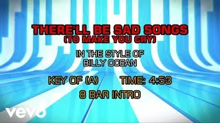 Billy Ocean - There'll Be Sad Songs (To Make You Cry) (Karaoke)