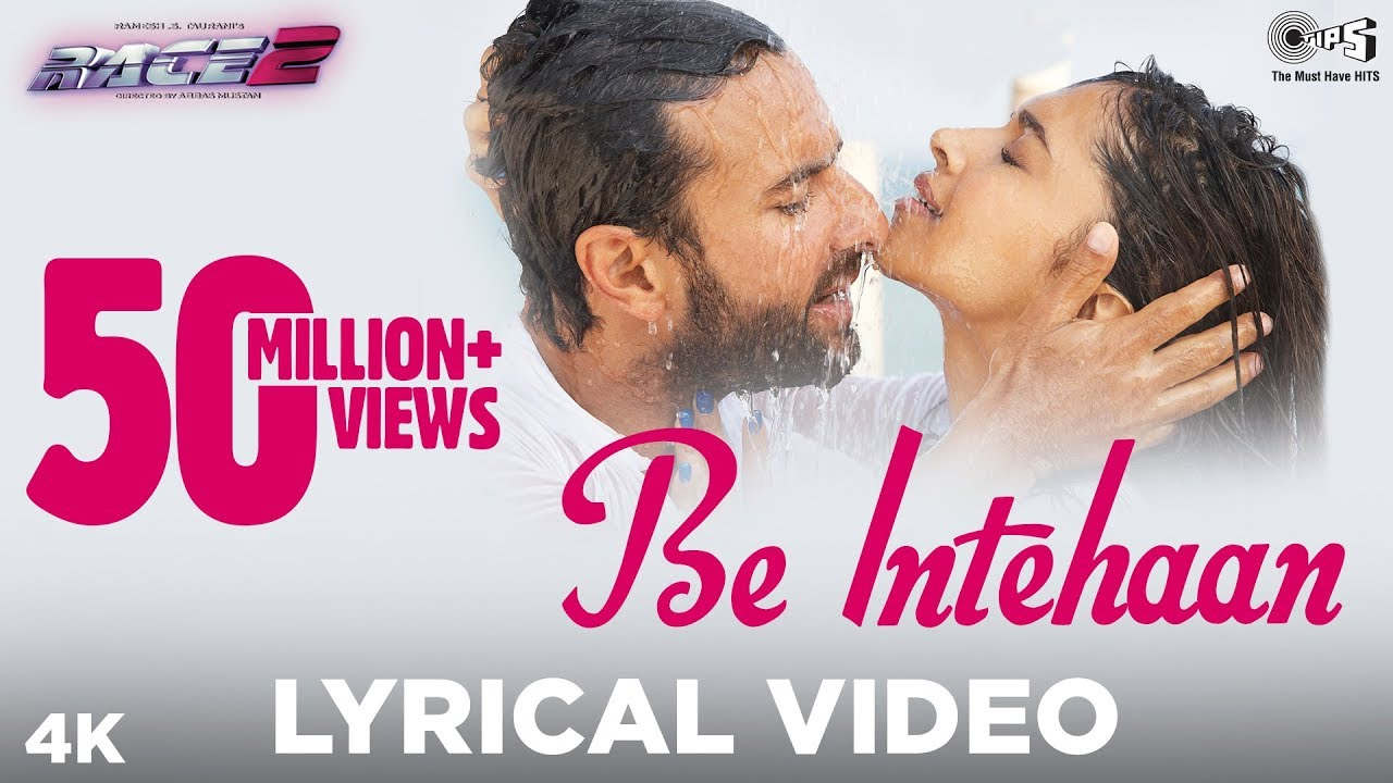 Be Intehaan - Bollywood Sing Along - Race 2 - Atif Aslam ... Race 2