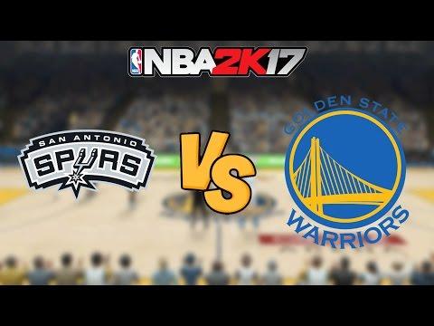 NBA 2K17 - San Antonio Spurs vs. Golden State Warriors - Full Gameplay