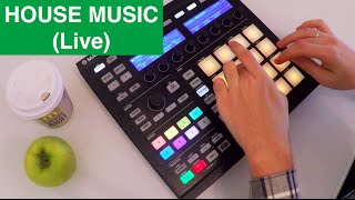 HOUSE MUSIC (live making) - NI MASCHINE performance