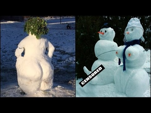 25 Crazy Funny Snowmen Pictures & Memes For Winter Fun [Mr Bazon]