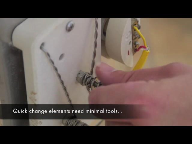 エルエルキルン 時間を要しないエレメント(電熱線)の交換