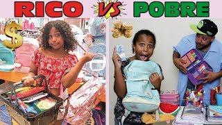 RICO VS POBRE COMPRANDO MATERIAL ESCOLAR 2019   MARYANE ALMEIDA