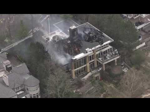 Mansion fire in Bloomfield Township