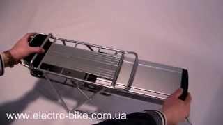 Обзор литиевого аккумулятора для электровелосипеда(http://www.electro-bike.com.ua/ Литиевый аккумулятор для электровелосипеда, имеет двойной багажник для установки на..., 2014-04-10T12:11:25.000Z)