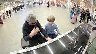 Olivier`s (8 years old) boogie-woogie lesson at St Pancras s...