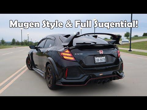 Honda Civic Type R Gets Hi Rev Sports Mugen Style Taillights & Car Show