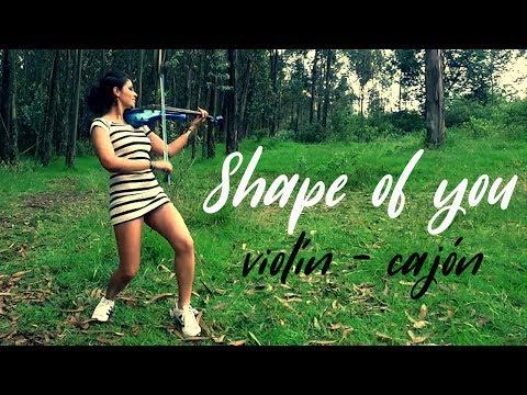 SHAPE OF YOU 💿 Martha Psyko Ft. Diego Miño (Tomback) Violín - Cajón