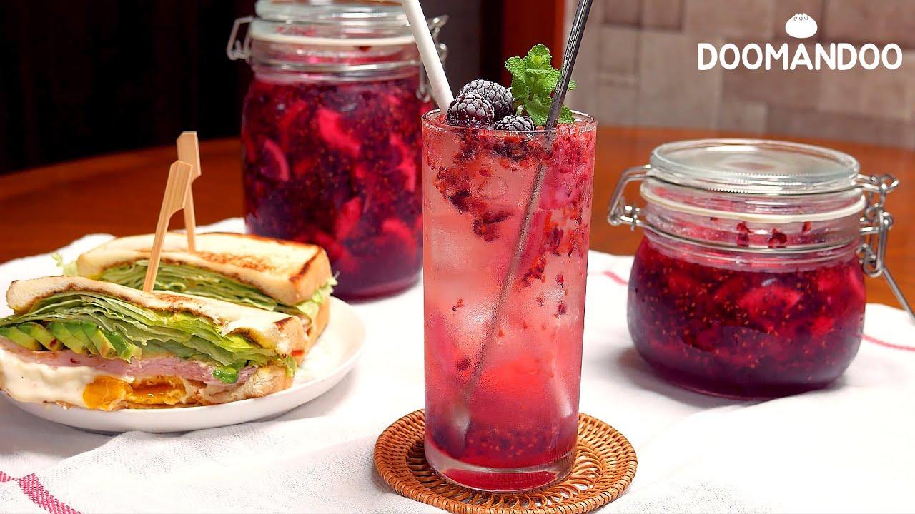 산딸기 레몬청 Raspberry Lemonade : 두만두 doomandoo