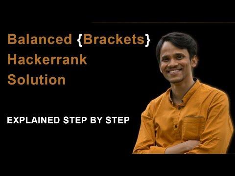 HackerRank   Balanced Brackets Solution