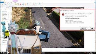 Gta 5 Scripthook V CRITICAL ERORR Fix  (MUST TRY ) 2017 GTA Launcher Bypass