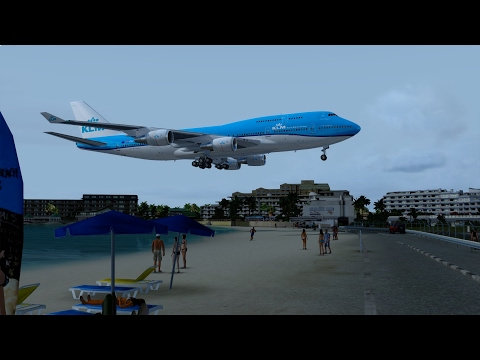 [P3D] St. Maarten (TNCM) Approach in the NEW PMDG Boeing 747-400!