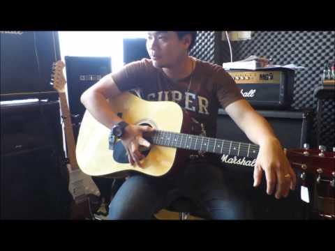 กีต้าร์ PLATO รุ่น (GF229) Acoustic Guitar 41นิ้ว สีไม้