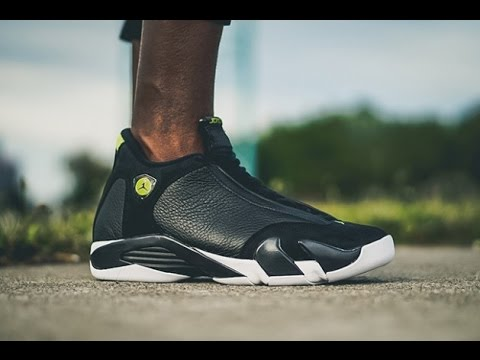 "buy online fe7d2 abed6 2016 Air Jordan 14 Retro ""Indiglo"" on feet"
