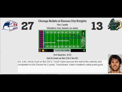 Week 16: Chicago Bullets (11-4) @ Kansas City Knights (5-10)