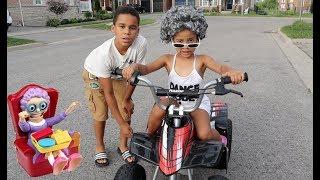 Greedy Granny Cali Rides Brother's Car! FamousTubeKIDS