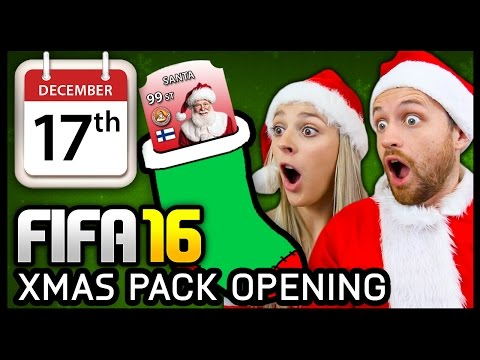 XMAS ADVENT CALENDAR PACK OPENING #17 - FIFA 16 ULTIMATE TEAM