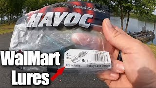 Budget Lures From WalMart - Bass Fishing with Berkley Havoc Craws