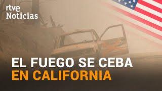 INCENDIOS en CALIFORNIA un MILLÓN de hectáreas quemadas y más de 20 MUERTES  RTVE
