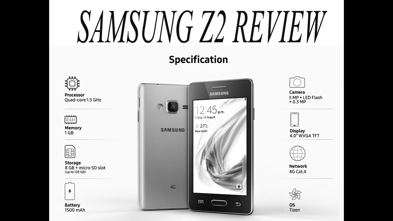 Samsung Z2 4g Mobile Tizen Os Review Youtube