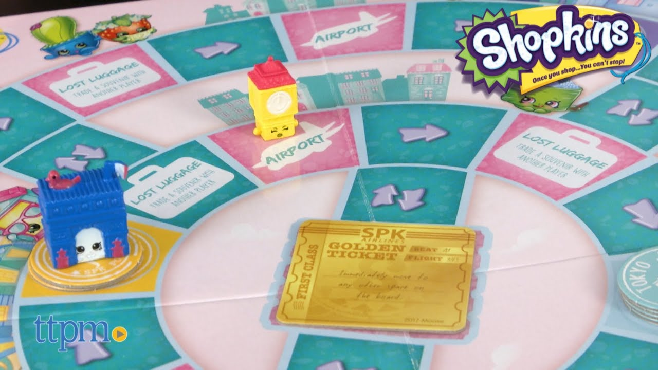 Shopkins World Vacation Game from Pressman