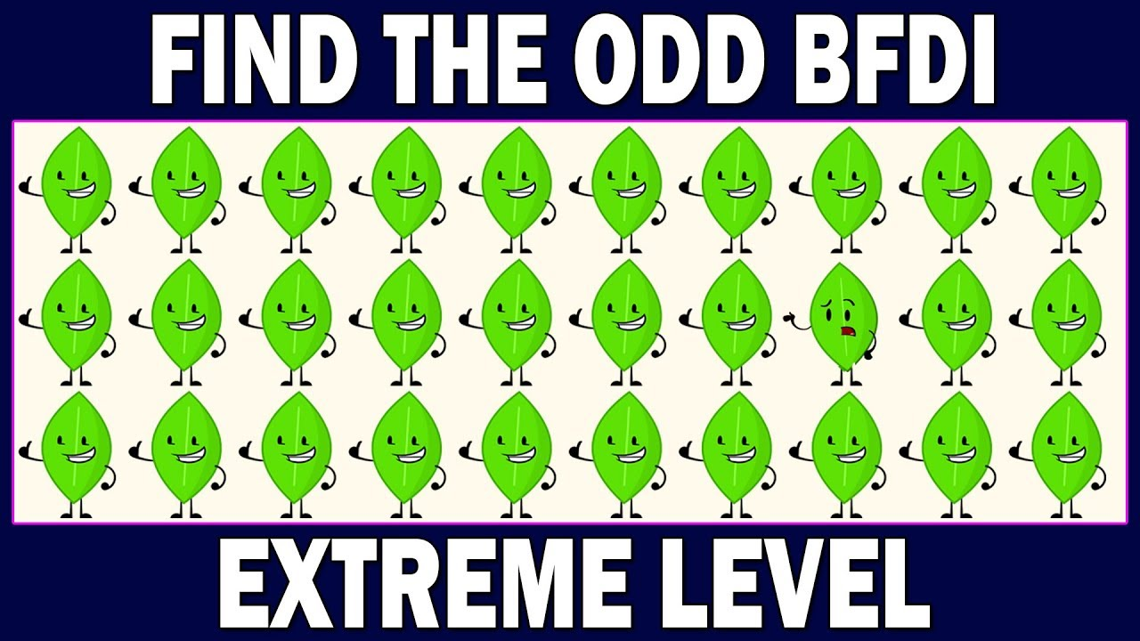 BFDI Odd One Out Puzzles | Battle For Dream Island Games | Find The Odd  BFDI ? Spot The Odd Object