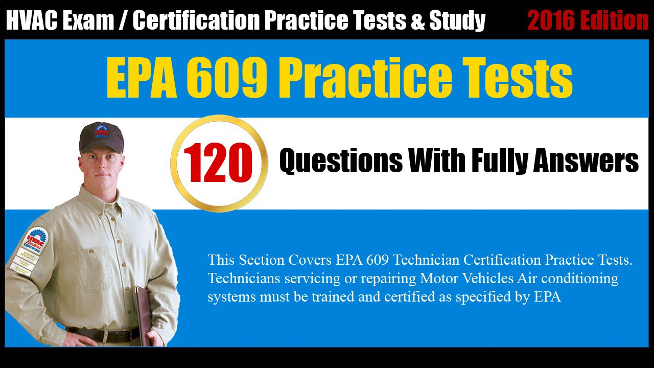 Epa 609 Technician Certification Free Practice Test Youtube