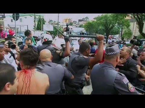 Así fue el enfrentamiento entre seguidores y detractores de Lula da Silva