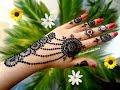 How to apply henna designs Easy latest Best jewellery mehndi designs for hands tutorial