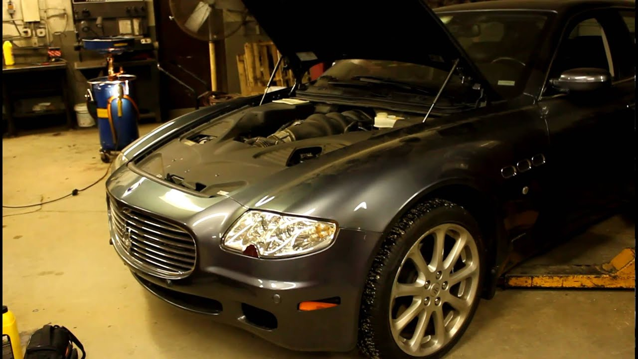 Nice Maserati Quattroporte After Water Pump And Oil Pump Change   YouTube