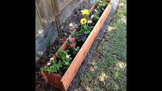 Redwood Planter Box