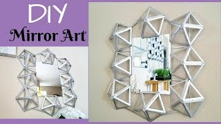 DIY Wall Mirror Quick and Easy Home/ Room Decor