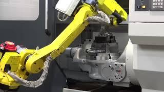 Вертикально-фрезерный обрабатывающий центр модели VMC 350 с роботом