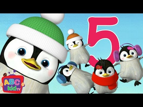 Five Little Penguins Jumping on the Bed  Cocomelon ABCkidTV Nursery Rhymes & Kids Songs
