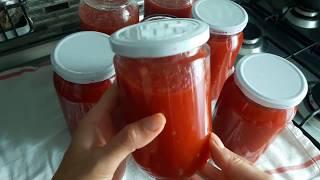 Томатный соус по-турецки. Без уксуса и сахара! /Базовый томатный соус на зиму.
