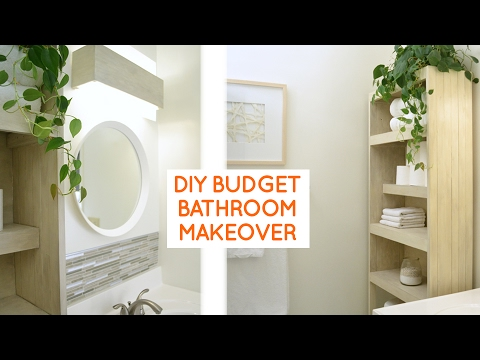 Diy Small Bathroom Remodel Ideas diy small bathroom remodel: budget bathroom ideas - youtube