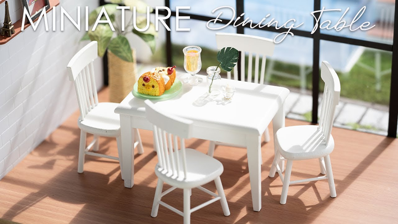 Miniature Dining Table And Chairs Unboxing Dollhouse Furniture